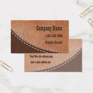 Cartes De Visite Design d'intérieur en cuir piqué