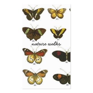 Cartes de visite d'espèces de papillon cartes de visite professionnelles