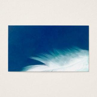 Cartes de visite d'esprit d'oiseau d'aile de plume
