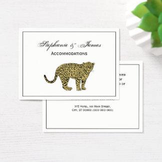 Cartes De Visite Dessin de chat repéré par guépard vintage de