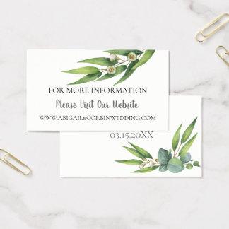 Cartes De Visite Détails fleurissants de site Web de mariage