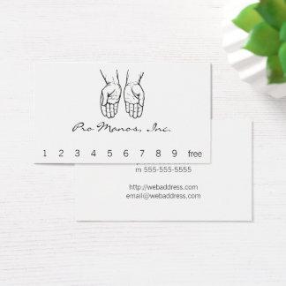Cartes De Visite Deux mains ouvertes (noires et blanches)