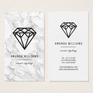 Cartes De Visite Diamant avec du marbre