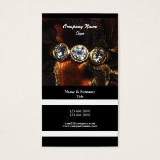 Cartes De Visite Diamant de bijoux de bijoutier de profil