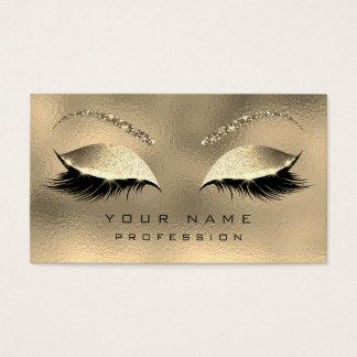 Cartes De Visite Diamant de scintillement de mèches de sourcils de
