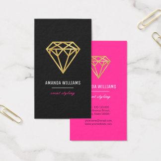 Cartes De Visite Diamant d'or
