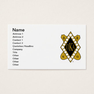 Cartes De Visite Diamant d'or de PKA