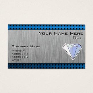 Cartes De Visite Diamant ; Métal-regard balayé