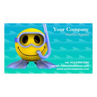 Cartes de visite d'instructeur de plongée à l'air cartes de visite personnelles