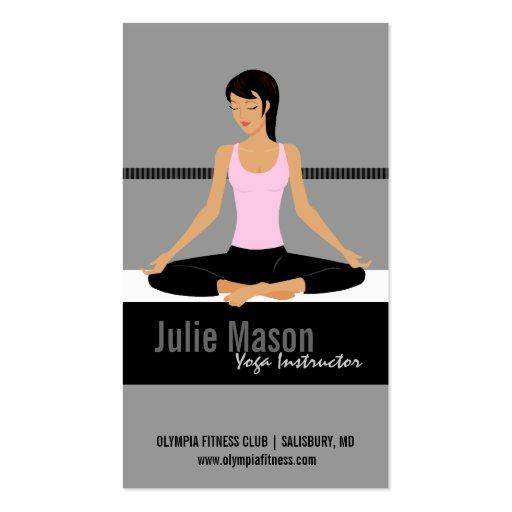 Cartes de visite d'instructeur de yoga carte de visite