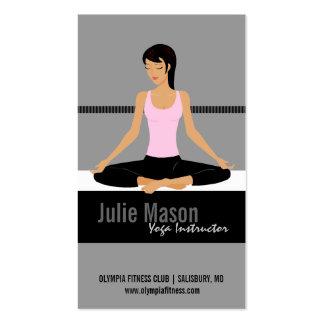 Cartes de visite d'instructeur de yoga carte de visite standard