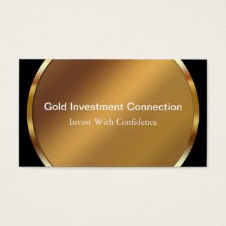 Cartes de visite d'investissement d'or