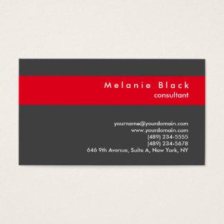 Cartes De Visite Directeur rouge gris professionnel moderne de