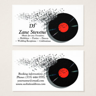 Cartes De Visite Disque vinyle de jockey de disque du DJ de