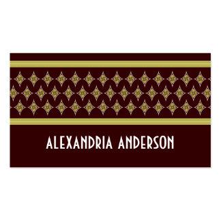 Cartes de visite divins brun chocolat de diamants cartes de visite professionnelles