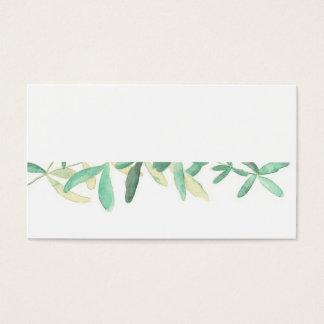 Cartes De Visite Do-it-yourself l'épousant botanique moderne