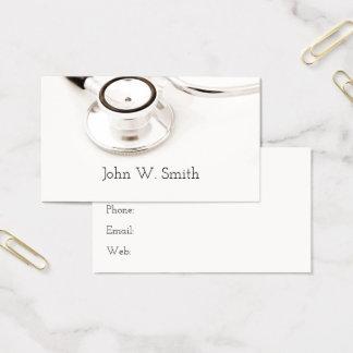 Cartes De Visite Docteur médical Stethoscope White Background
