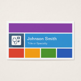 Cartes De Visite Docteur professionnel - style moderne créatif de