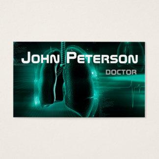 Cartes De Visite Docteur Therapist Pulmonologist Physician Card