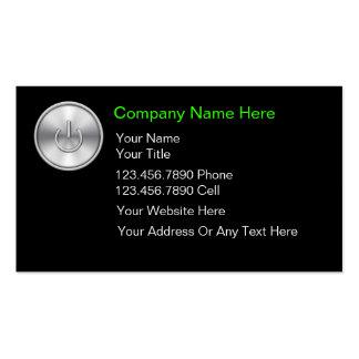 Cartes de visite d'ordinateurs carte de visite standard