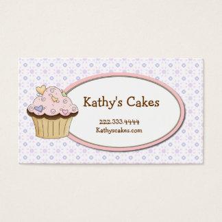 Cartes de visite doux de boulangerie de petit