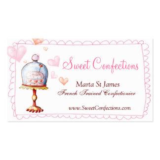 Cartes de visite doux de confections carte de visite