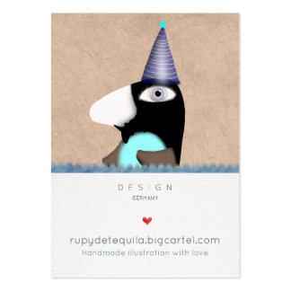 Cartes de visite doux de conte de fées de pingouin carte de visite grand format