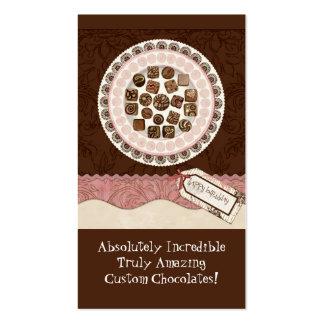 Cartes de visite doux de magasin de chocolat fait cartes de visite personnelles
