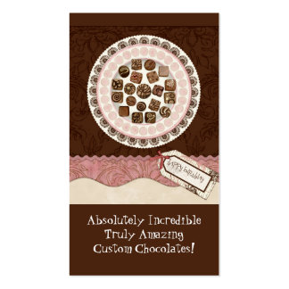 Cartes de visite doux de magasin de chocolat fait  carte de visite standard