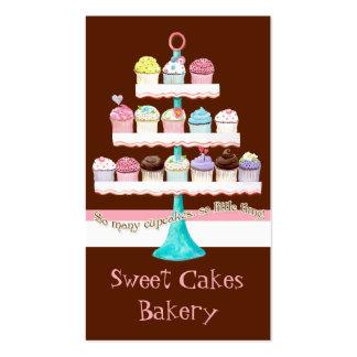 Cartes de visite doux de magasin de petit gâteau f cartes de visite personnelles