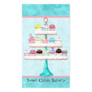 Cartes de visite doux de magasin de petit gâteau f modèles de cartes de visite