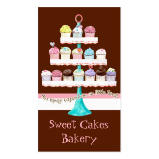 Cartes de visite doux de magasin de petit gâteau f carte de visite standard