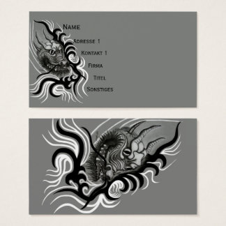 Cartes De Visite Dragon de la Chine dans Tattoostyle