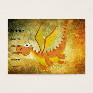Cartes De Visite Dragon sur une texture orange