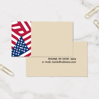 Cartes De Visite Drapeau américain dans le chevauchement