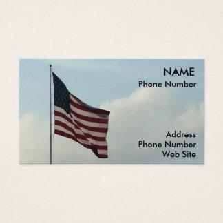 Cartes De Visite Drapeau américain et ciel bleu
