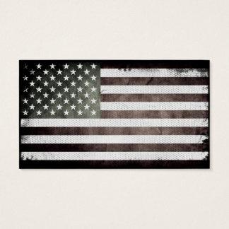 Cartes De Visite Drapeau américain noir et blanc