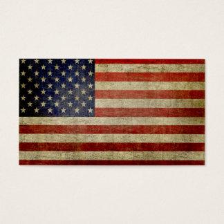 Cartes De Visite Drapeau américain patiné et affligé