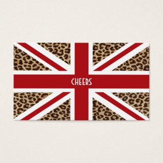 Cartes De Visite Drapeau britannique d'Union Jack avec la copie de