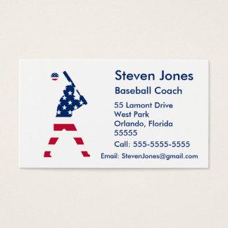 Cartes De Visite Drapeau d'Américain de base-ball de l'Amérique