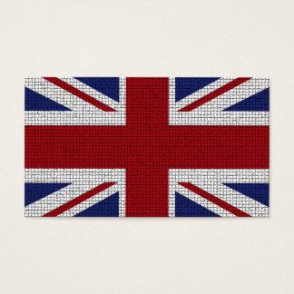 Cartes De Visite Drapeau d'Union Jack, effet de mosaïque,