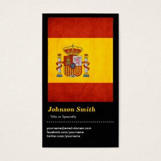 Cartes De Visite Drapeau grunge vintage de l'Espagne - Bandera de