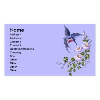 Cartes de visite du colibri 2 carte de visite
