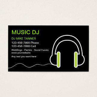 Cartes de visite du DJ de musique