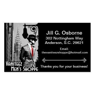 Cartes de visite du magasin des hommes de Vaniteez Cartes De Visite Personnelles