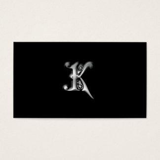 Cartes de visite du monogramme K