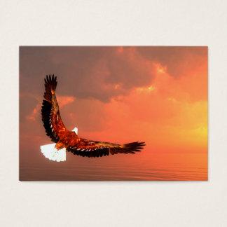 Cartes De Visite Eagle volant au soleil - 3D rendent