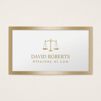 Cartes De Visite Échelle de mandataire d'avocat de feuille d'or