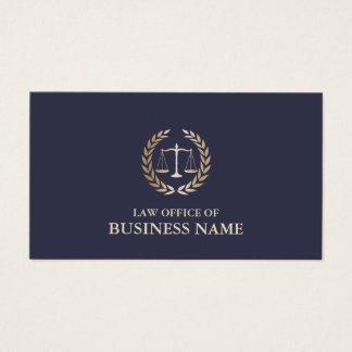 Cartes De Visite Échelle d'or d'avocat de mandataire de justice