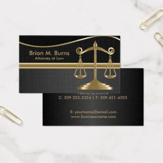 Cartes De Visite Échelles de la loi | d'avocat de la justice | - or